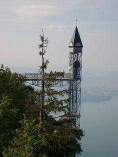 The Hammetschwand Lift, Switzerland - The highest exterior elevator in Europe (source: wiki)