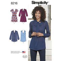 Simplicity Pattern 8216 Misses' Mini Dress or Tunic