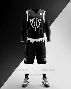 Brooklyn Nets Jersey Concept - Made for sponsored by Basketball Kit, Custom Basketball Uniforms, Basketball Design, Brooklyn Nets, Best Nba Jerseys, Nba Uniforms, Nba League, Basketball, Fo Porter