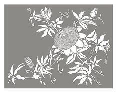 Passion Flower Stencil Large Passion Flower Motif