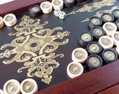 Backgammon game Backgammon board handmade Backgammon by AirDream