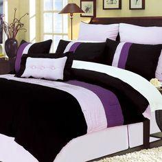 Simple Luxury 8 Piece Florence Purple Bed-In-Bag Set - FLORENCE PURPLE