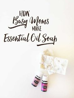Easy to make homemade soap recipes with essential oils. You'll be amazed at how easy it is to make bar soap using your essential oils! This recipe uses oils that come in your starter kit so no need to buy extra oils just to make soap. Simple enough that even busy parents can find a few minutes to make this good-for-you soap using all natural ingredients. Learn how to make bar soap using essential oils today! #EssentialOils #HomemadeSoap