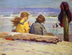 The Chaperones, Edward Potthast, Private collection,  oil on canvas