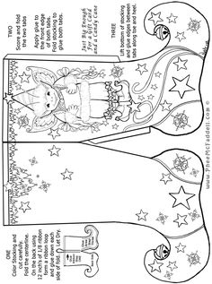 Elf Stocking Christmas Craft Page Christmas Colors, Christmas Art, Christmas And New Year, Christmas Holidays, Christmas Ornaments, Christmas Activities, Christmas Printables, Xmas Stockings, Christmas Coloring Pages