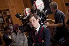 "We've got brand new ""behind the scenes"" pics of Chris Colfer and Darren Criss on Glee!"