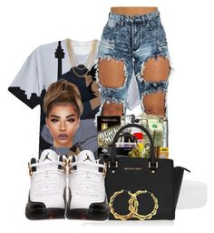 """DRAKE"" by ballislife ❤ liked on Polyvore featuring ASOS, MICHAEL Michael Kors and Retrò"