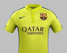 FlagWigs: FC Barcelona 2014-2015 Away Jersey Shirt Kits / Ha...