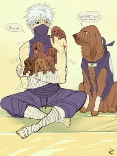 Kakashi and his summoned dogs ♥♥♥ + puppies ♥ So cute http://www.barkslands.com/