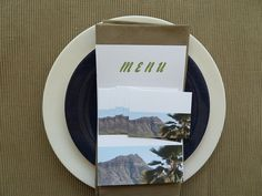 Placecard and Menu Card Set  Diamond Head by TheFortunateHome, $10.00
