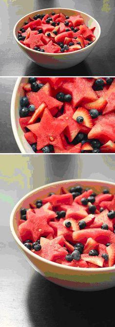 Sterrensalade van watermeloen