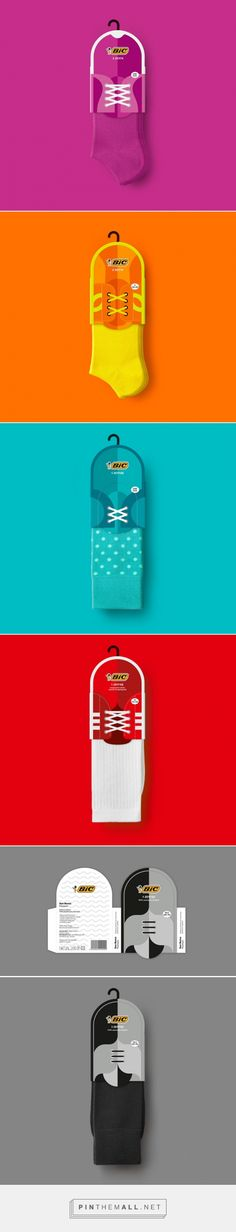 Bic ‪#‎Socks‬ ‪#‎Packaging‬ ‪#‎Design‬ by Mousegraphics (‪#‎Greece‬) - http://www.packagingoftheworld.com/2016/05/bic-socks.html