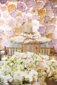 One of our favorite elements of a wedding (and dare we say of most people) is flowers! We rounded up 32 Ways to help you achieve a flower filled wedding. Wedding Events, Wedding Reception, Lace Wedding, Paper Flower Wall, Paper Flowers, Wedding Design Inspiration, Wedding Branding, Orlando Wedding, Sweetheart Table