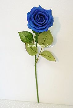 Sweet Home Deco 17'' Real Touch Rose Artificial Single Spray (Blue) Silk Roses --- Sweet Home Deco http://www.amazon.com/dp/B00VLJ0K04/ref=cm_sw_r_pi_dp_Sf-lwb1MACB1W
