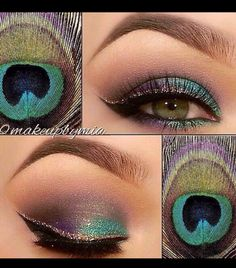 I love this look from @Sephora's #TheBeautyBoard #EYES #PEACOCK #FUN #FLIRTY #BEAUTY