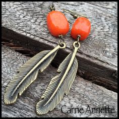 A personal favorite from my Etsy shop https://www.etsy.com/listing/235974961/orange-quartzite-stone-and-antique-gold