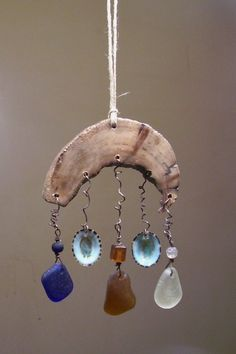 Sea Glass Mobile/Suncatcher by BeachBaublesTM on Etsy, $35.00