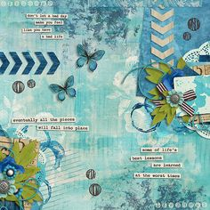 Heart Art : Moody Blues by Sugarplum Paperie : Layout by Natascha
