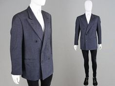 Vintage 80s VALENTINO Couture Men's Suit Jacket by ZeusVintage