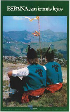 Promocionando #Asturias en un cartel de turismo de España del año 1979 / #Spain #travel #tourism #viajar