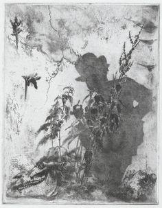 Luigi Conconi, Vita contemplativa (self-portrait), c. 1883, etching with aquatint, Purchased as the Gift of Matthew and Ann Nimetz