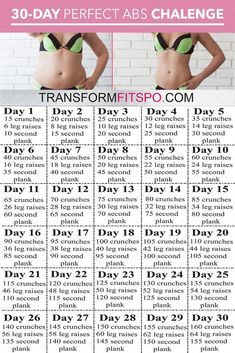 Perfect Abs 30 Day Challenge – Ein Monat Training, um Bauchfett zu schmelzen und… Perfect Abs 30 Day Challenge – One month of training to melt belly fat and … – Estella K. Perfect Abs 30 Day Challenge – One month of training to melt belly fat and … – fat Fitness Workout For Women, Body Fitness, Fitness Workouts, Health Fitness, Physical Fitness, Workout Exercises, Belly Exercises, Workout Routines, Body Weight Workouts