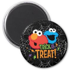 Cookie Monster and Elmo - Trick or Treat Magnet