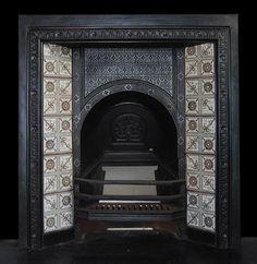 A Victorian fireplace insert, c1885
