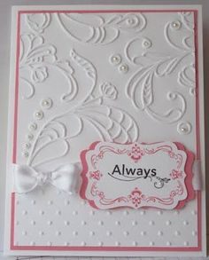 Wedding card - In My Craft Room: Embossed Regal Wedding Card