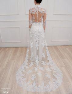 White Flower Lace Platform Bridal Shoes Beautiful Women High Heels