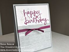Check out the video tutorial on my blog for this simple Pop Up Card using Stampin UP's Watercolor Words and Chalk Lines Stamp Sets.