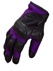 Purple Motorcycle Gloves