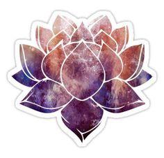 'Buddhist Lotus Flower' Sticker by ohdeer Tumblr Stickers, Diy Stickers, Laptop Stickers, Planner Stickers, Sticker Ideas, Sticker Design, Iphone Case Covers, Overlays, Art Prints