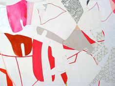 Aaron Wexler, Master Gain (2011) (detail) Acrylic And Paper Collage On Panel 72h x 60w in (182.9h x 152.4w cm)