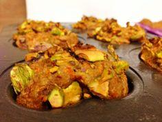 Healthy sunshine muffin. Carrots avocado applesauce. 140 calories