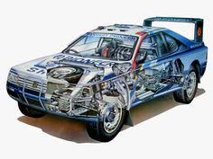 1988 Peugeot 405 T16 Grand Raid designed by Pinninfarina - Illustration uncredited