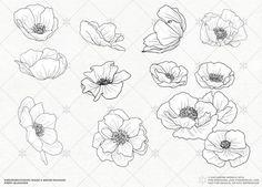 unique Tiny Tattoo Idea - Image result for minimalist poppies tattoo... Check more at http://tattooviral.com/tattoo-designs/small-tattoos/tiny-tattoo-idea-image-result-for-minimalist-poppies-tattoo-2/