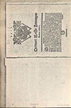 Ordinari Zeittung(Ordinari-Zeitung) - 1665