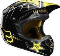 Fox Racing Rockstar Youth Boys Motocross/Off-Road/Dirt Bike Motorcycle Helmet - Black/Yellow / Medium Dirt Bike Riding Gear, Dirt Bike Helmets, Womens Motorcycle Helmets, Dirt Bike Clothing, Snowmobile Clothing, Best Kids Bike, Dirt Bikes For Kids, Fox Helmets, Racing Helmets