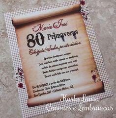 Convite De Aniversario De 70 Anos Estava Com Letras Bem Douradas
