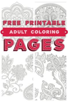 Need a little relaxation time for yourself? Grab five free printable adult coloring pages from Skyhorse Coloring Books