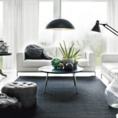black and white room!
