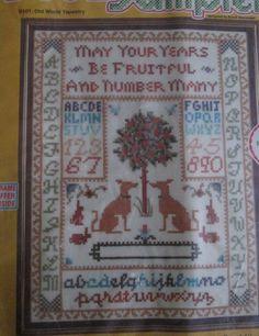 Sampler Kit Linen SOO-Z Old World Tapestry Antique Style SEALED by RetroExchange on Etsy