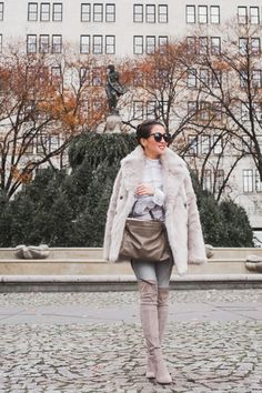 Shades of Gray :: Faux fur coat