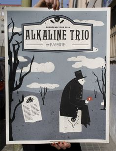 Alkaline Trio/Bayside poster de gira - Munster #poster #design