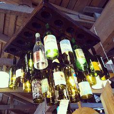 wine bottle chandelier!!