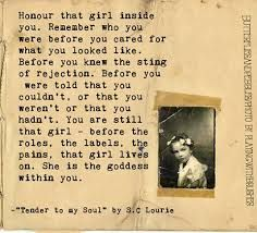Honor the girl inside you.