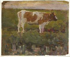 — Piet Mondrian, Red coloured cow,1904-1905....