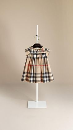 0f623f555def New classic check Gather Detail Check Cotton Dress - Image 1 Big Kids  Clothes