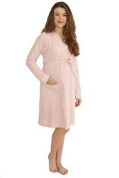 30c0f12952fb9 Sleepwear 15755: Belabumbum Ariel Maternity Nursing Robe - Pink Ivory -  Large X-Large -> BUY IT NOW ONLY: $37.59 on eBay!